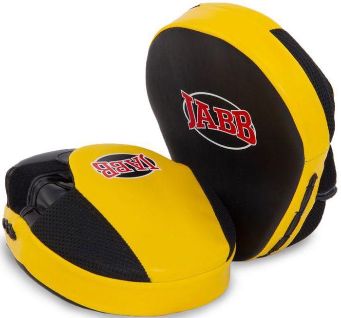 Лапа боксерская Jabb JE-2190, цвет: черный, желтый, 2 штКимоно УТ-000029Лапа боксерская (пара) Jabb JE-2190 рекомендована для отработки ударов руками тренирующимся спортсменам. Очень удобна и отвечает всем современным требованиям. Застежка: Velcro для фиксации на руке. Материал: полиуретан. Наполнитель: синтетическая пена. Рекомендованы: для тренирующихся спортсменов.