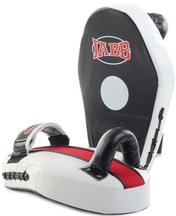 Лапа боксерская Jabb JE-2198, цвет: черный, белый, 2 шт311056Лапа боксерская (пара) Jabb JE-2198 рекомендована для отработки ударов руками тренирующимся спортсменам. Очень удобна и отвечает всем современным требованиям. Застежка: Velcro для фиксации на руке. Материал: натуральная кожа. Наполнитель: синтетическая пена. Рекомендованы для тренирующихся спортсменов.