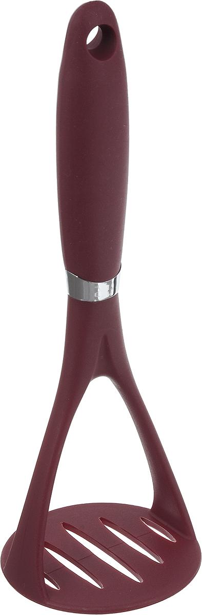 Пресс для картофеля Calve Premium Quality, цвет: бордовый, длина 24 см