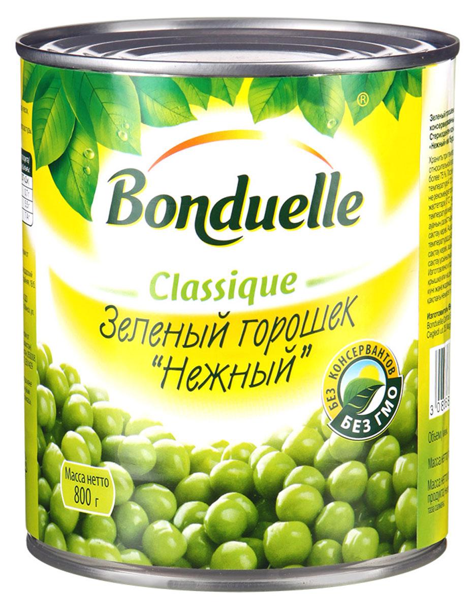 Bonduelle зеленый горошек Нежный, 800 г24Зеленый горошек Bonduelle Нежный обладает сладким нежным вкусом, не содержит консервантов. Является полезным для организма: в нем преобладают витамины C и В9, которые повышают тонус и жизненную активность.Горошек бережно собирается, а затем очищается прямо в поле. Готовый продукт имеет свежий и насыщенный вкус, так как горох попадает в банку сразу же в день сбора урожая. Продукт сохранил в себе все питательные свойства и полезные качества. Отлично подойдет в качестве дополнения к мясным, рыбным блюдам и различным салатам.Уважаемые клиенты! Обращаем ваше внимание, что полный перечень состава продукта представлен на дополнительном изображении.