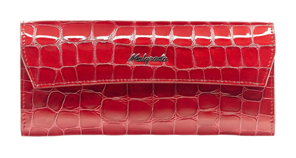 Кошелек женский Malgrado, цвет: красный. 75504-28801#1-022_516Стильный кошелек Malgrado выполнен из лаковой натуральной кожи красного цвета с декоративным тиснением под крокодила, застегивается клапаном на кнопку. Внутри содержит два горизонтальных кармана для бумаг, девять кармашков для кредитных карт, отделение на молнии для мелочи и два отделения для купюр. На задней стороне кошелька расположен открытый кармашек. Кошелек упакован в подарочную металлическую коробку с логотипом фирмы. Такой кошелек станет замечательным подарком человеку, ценящему качественные и практичные вещи. Характеристики:Материал: натуральная кожа, текстиль, металл. Размер кошелька: 19 см х 10 см х 2 см. Цвет: красный.Размер упаковки: 23 см х 13 см х 4,5 см. Артикул: 75504-28801#.