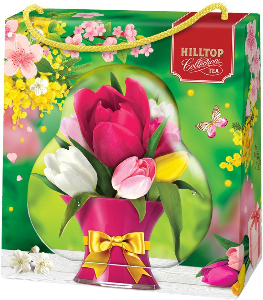 Hilltop Зеленая симфония 50 зеленый листовой чай в футляре, 50 г0120710Чай Зеленая симфония - свежий зеленый китайский чай Сенча с лепестками календулы и мальвы.