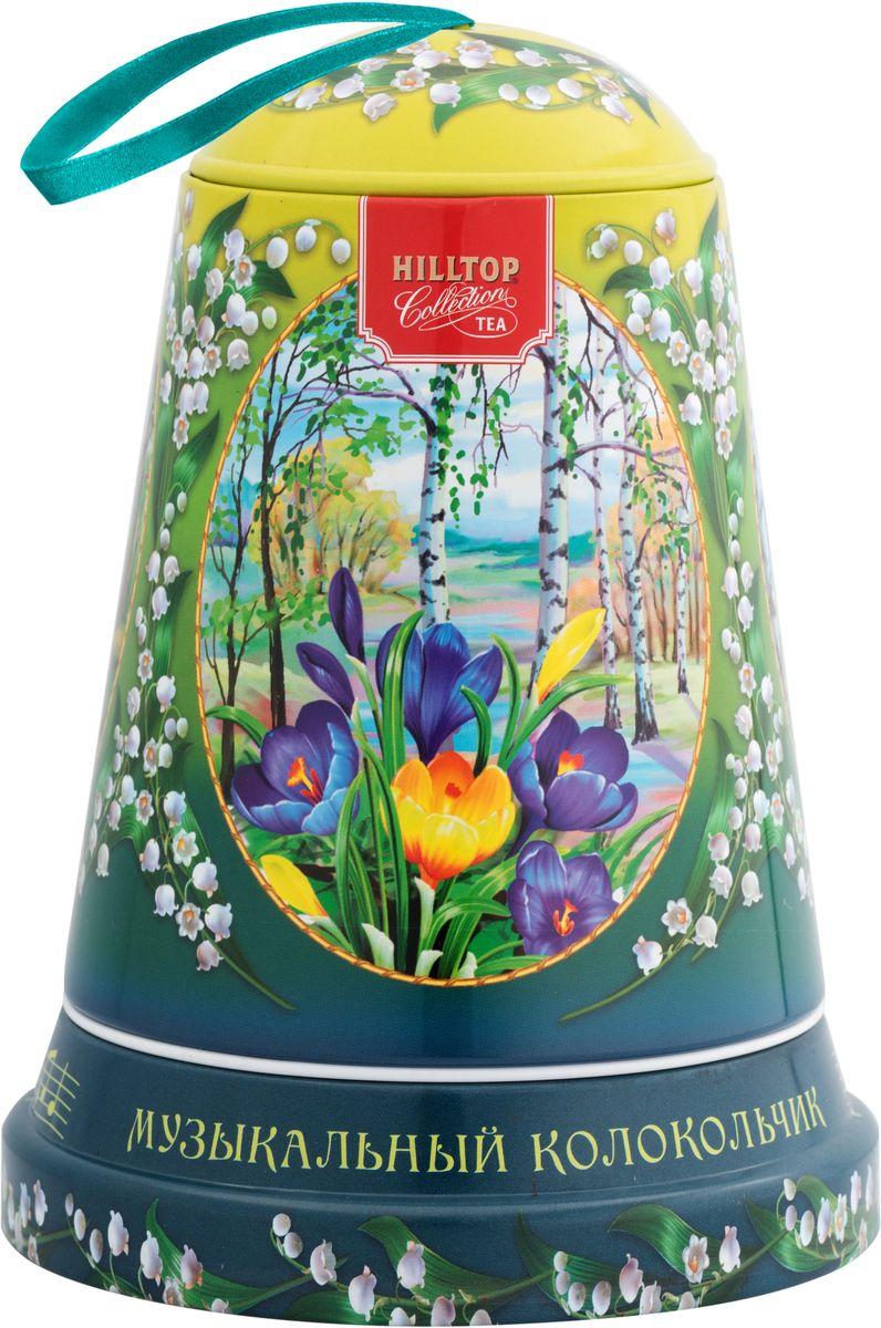 Hilltop Музыка весны черный листовой чай Подарок Цейлона в музыкальном колокольчике, 100 г0120710Чай Черный лист - особо крупнолистовой цейлонский черный чай с насыщенным ароматом и терпким послевкусием.