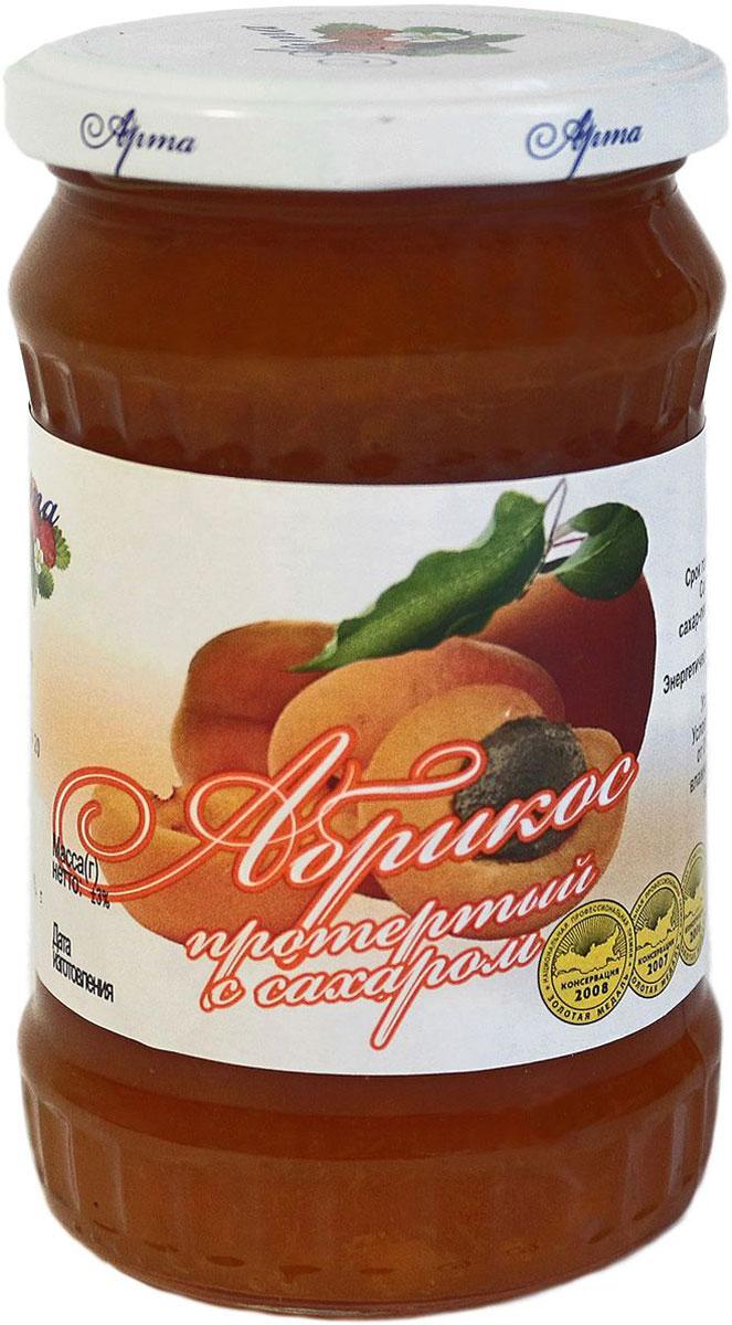 Арта абрикос протертый с сахаром, 350 г арта смородина протертая с сахаром 350 г