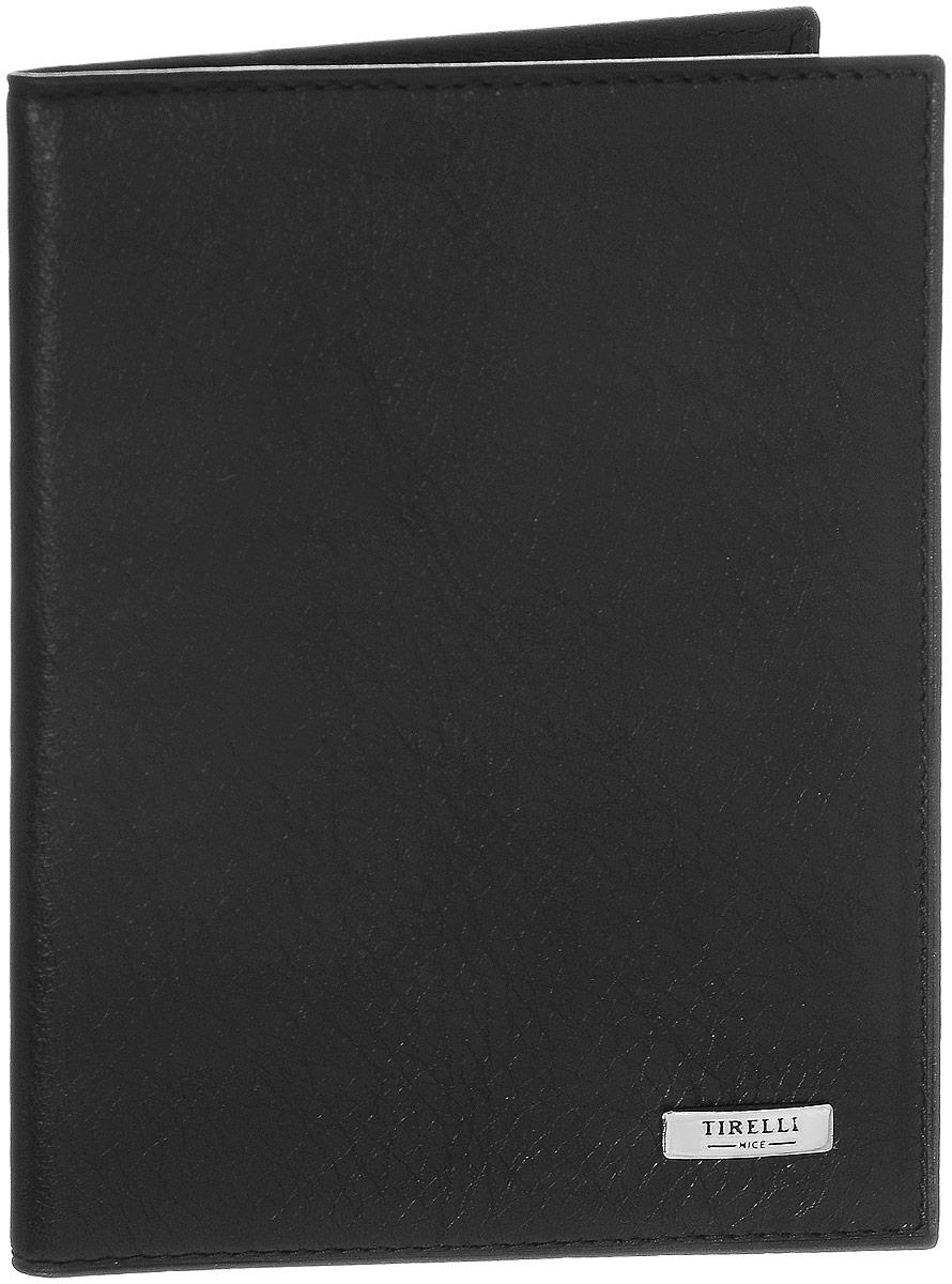 Обложка для паспорта Tirelli Классик, цвет: черный. 15-333-07KW064-000255Обложка для паспорта Tirelli Классик выполнена из натуральной кожи с фактурной поверхностью. Внутри расположены боковые прозрачные карманы из пластика для фиксации паспорта. Изделие упаковано в фирменную коробку. Такая обложка не только поможет сохранить внешний вид ваших документов, но и станет стильным аксессуаром, идеально подходящим вашему образу.