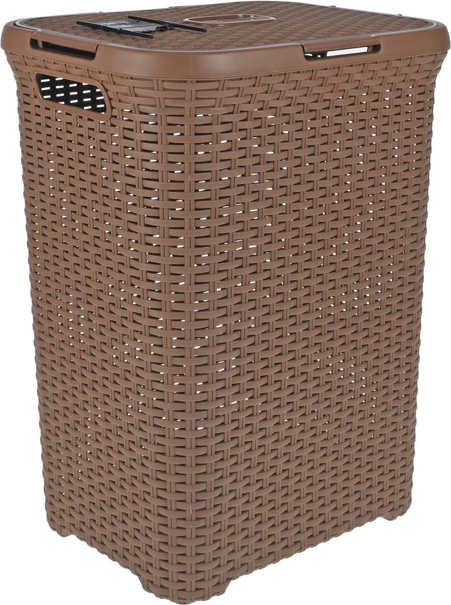 Корзина для белья Curver  Rattan Style , цвет: коричневый, 60 л - Корзины для белья