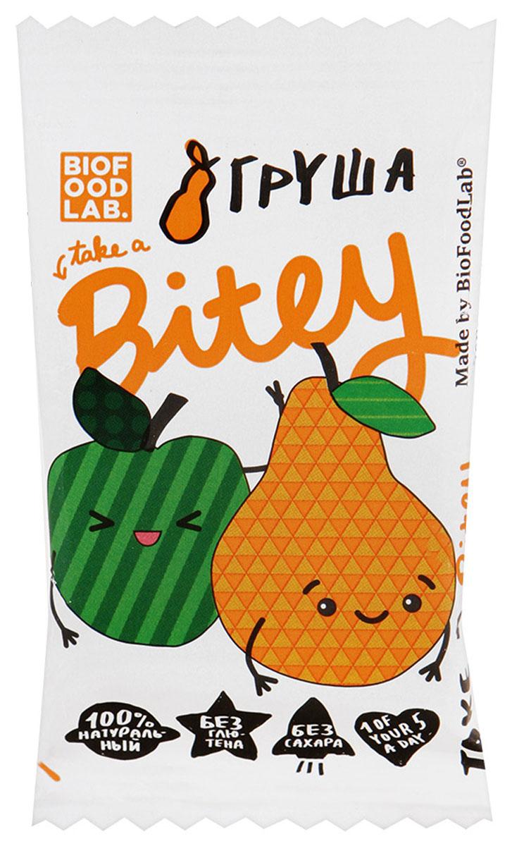 Take A Bitey Яблоко-Груша батончик фруктово-ягодный, 25 г0120710Абсолютно натуральный перекус из груши и яблок для маленьких открывателей. В каждом батончике удивительное сочетание полезных фруктов и ягод, которое придется по вкусу начинающим гурманам.Уважаемые клиенты! Обращаем ваше внимание, что полный перечень состава продукта представлен на дополнительном изображении.