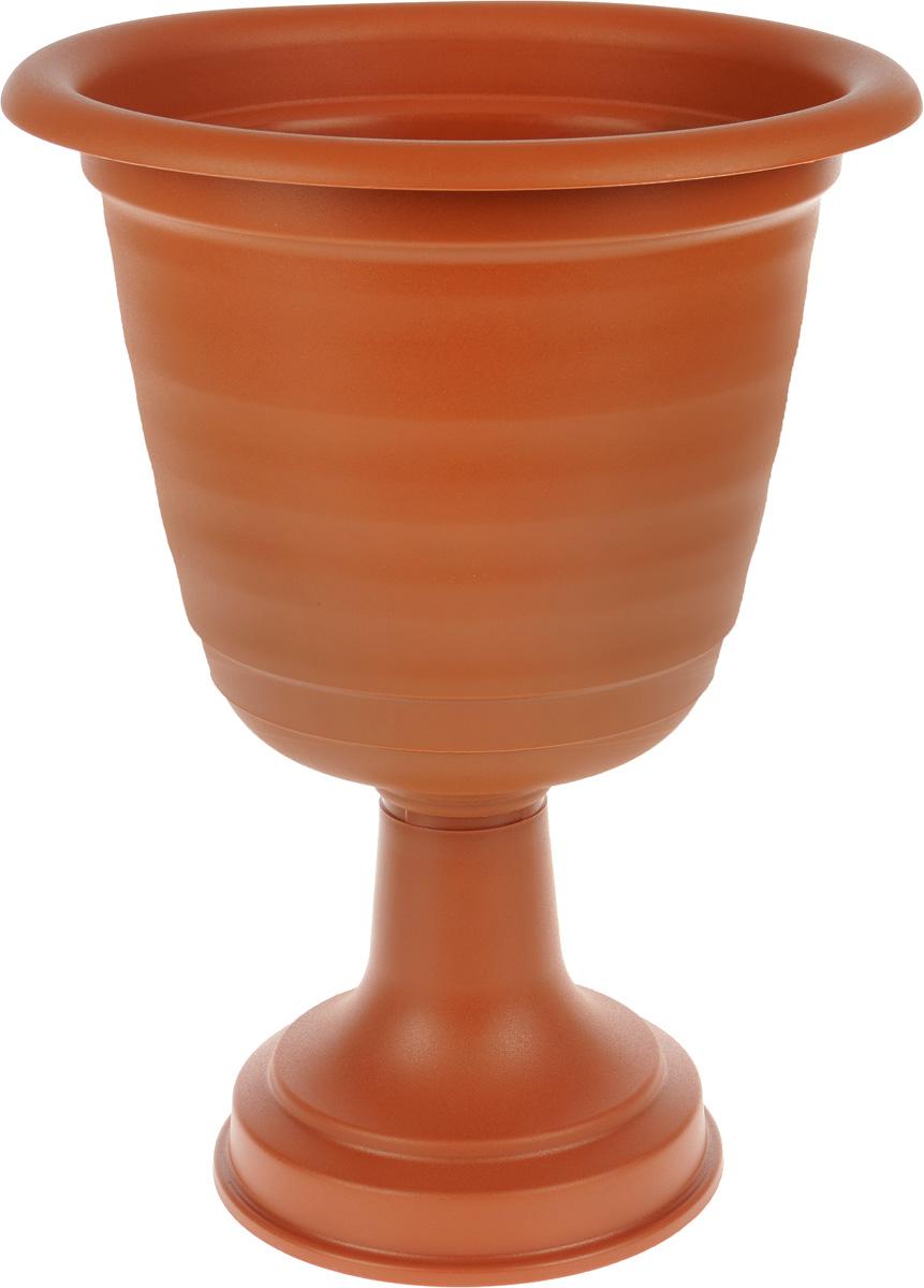 Кашпо Idea Ламела, на ножке, диаметр 33 смМ 8529Кашпо Idea Ламела изготовлено из высококачественного полипропилена. Изделие прекрасно подходит для выращивания растений и цветов. Кашпо имеет устойчивую ножку. Лаконичный дизайн впишется в интерьер любого помещения или сада. Диаметр кашпо по верхнему краю: 33 см.Высота кашпо: 47 см.
