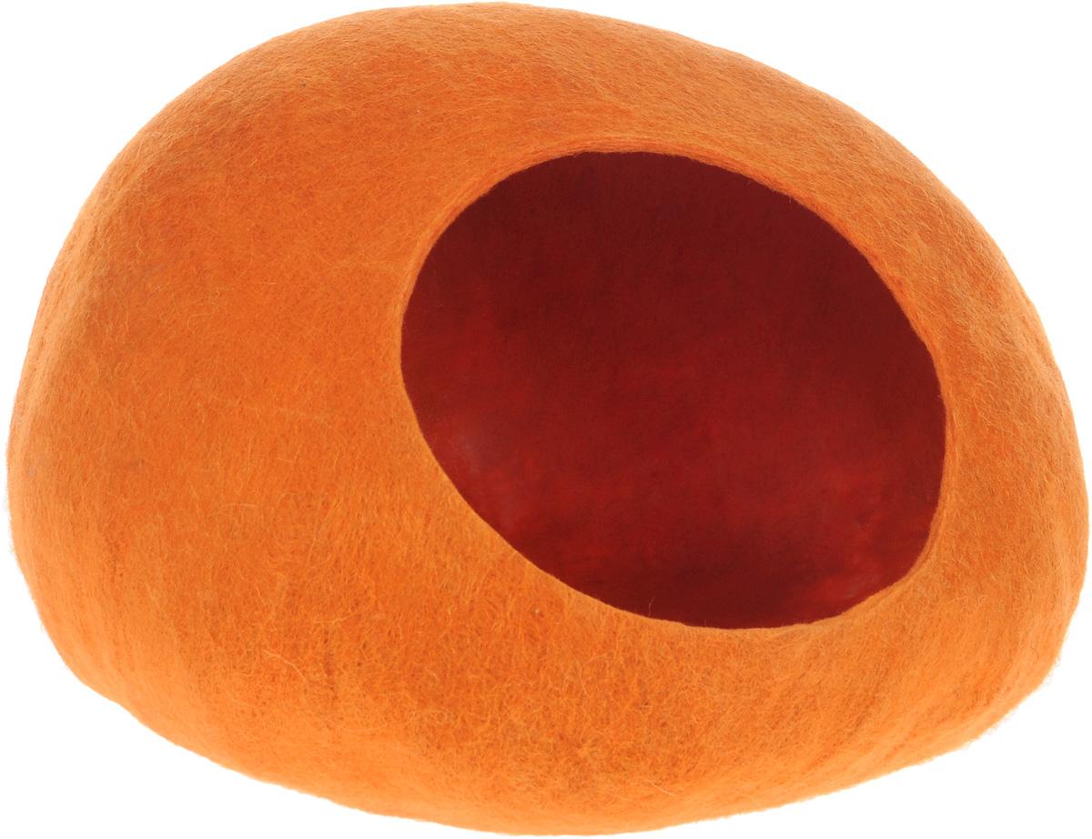 Домик-слипер для животных Zoobaloo WoolPetHouse, цвет: оранжевый, размер M0120710Домик-слипер WoolPetHouse предназначен для отдыха и сна питомца. Домик изготовлен из 100% шерсти мериноса. Это невероятное творение дизайнеров обещает быть хитом сезона! Производитель учел все особенности животного сна: форма, цвет, материал этих домиков - всё подобрано как нельзя лучше! В них ваши любимцы будут видеть только цветные сны. Шерсть мериноса обеспечит превосходный микроклимат внутри домика, а его форма позволит питомцу засыпать в самой естественной позе.