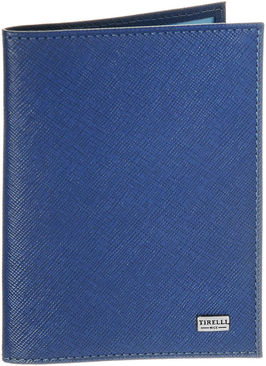 Обложка для паспорта Tirelli Виктория, цвет: голубой. 15-333-02104-5860Обложка для паспорта Tirelli Виктория изготовлена из натуральной кожи голубого цвета с рельефной текстурой. Внутри два вертикальных кармана из прозрачного пластика. Такая обложка не только поможет сохранить внешний вид ваших документов и защитит их от повреждений, но и станет ярким аксессуаром, который подчеркнет ваш образ. Изделие упаковано в подарочную коробку синего цвета с логотипом фирмы Tirelli. Характеристики:Материал: натуральная кожа, текстиль, пластик. Цвет: голубой. Размер обложки (в сложенном виде): 13,5 см х 9,5 см. Размер упаковки: 15,5 см х 11,5 см х 2,5 см. Артикул: 15-333-02.