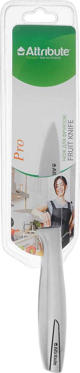 Нож для чистки овощей и фруктов Attribute Knife Pro, длина лезвия 8 см391602Нож Attribute Knife Pro изготовлен из высококачественной нержавеющей стали. Такой нож отлично подходит для чистки овощей и фруктов. Нож предоставит вам все необходимые возможности в успешном приготовлении пищи. Длина лезвия: 8 см.Общая длина ножа: 19 см.