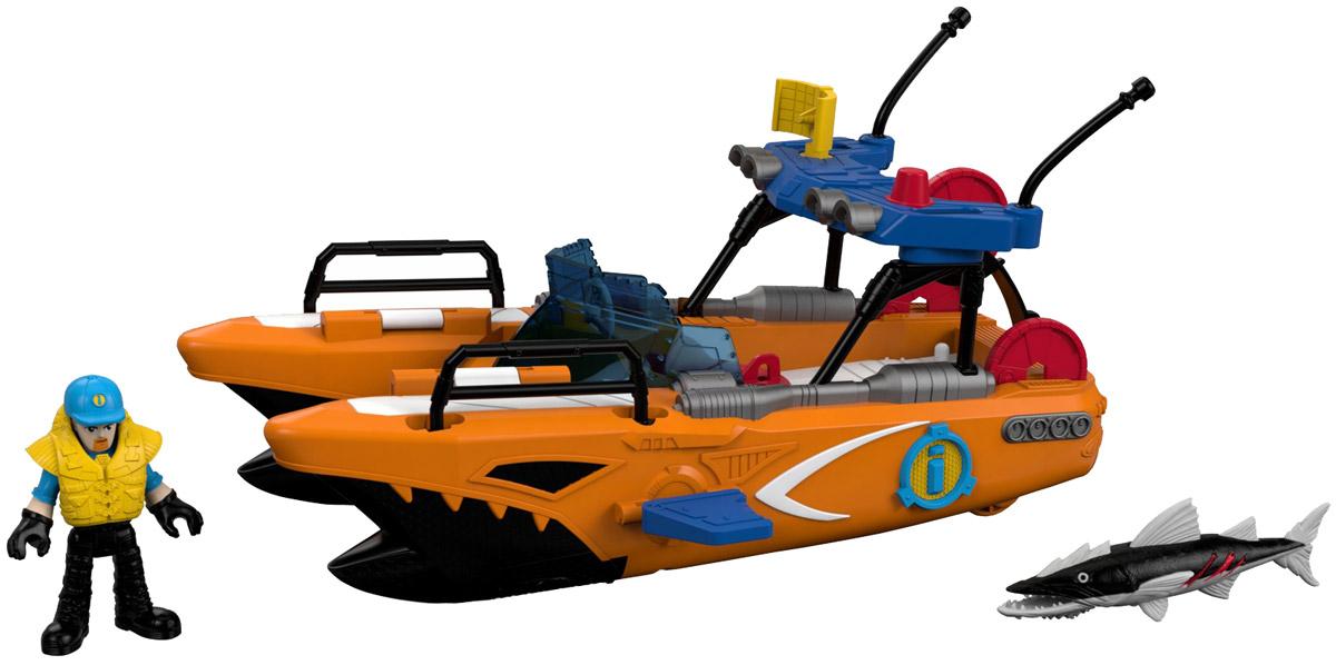 Imaginext Спасательная турбо-лодка, Mattel