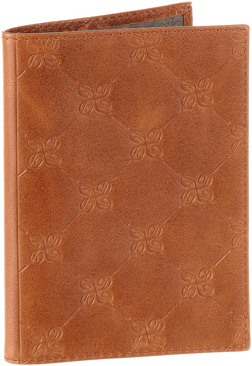 Обложка для паспорта Dimanche Louis Brun, цвет: коричневый. 595595Обложка для паспорта Dimanche Louis Brun изготовлена из натуральной кожи коричневого цвета с декоративным тиснением. Внутри содержится два прозрачных захвата для паспорта. Внутренняя отделка - из стильной ткани серого цвета. Обложка Dimanche Louis Brun не только поможет сохранить внешний вид вашего паспорта и защитит его от повреждений, но и станет ярким аксессуаром, который подчеркнет ваш неповторимый стиль.Обложка упакована в фирменную подарочную коробку.