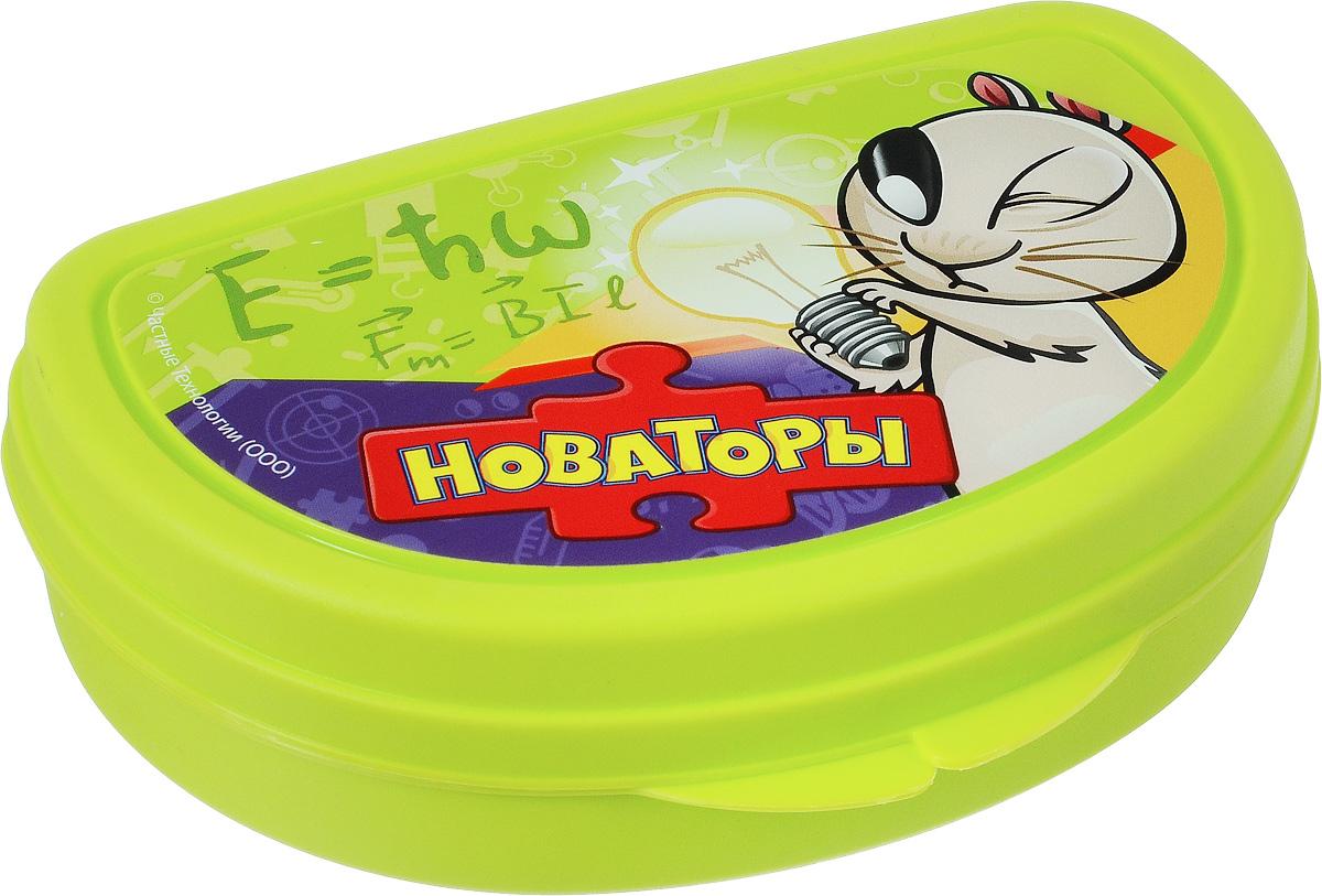 Бутербродница Idea Новаторы, цвет: салатовый, 14,5 х 10 х 4 смVT-1520(SR)Бутербродница Idea Новаторы выполнена из высококачественного пищевого пластика, что очень удобно и безопасно для детей, так как пластик не бьется. Крышка оформлена изображением хомяка Теслика. Крышка плотно закрывается, благодаря чему пища дольше остается свежей и вкусной. Такая бутербродница позволит перекусить любимым домашним бутербродом где угодно: в школе, в походе, поездке, на пикнике. Не занимает много места и легко помещается в любую сумку. Нельзя использовать в СВЧ и мыть в посудомоечной машине.