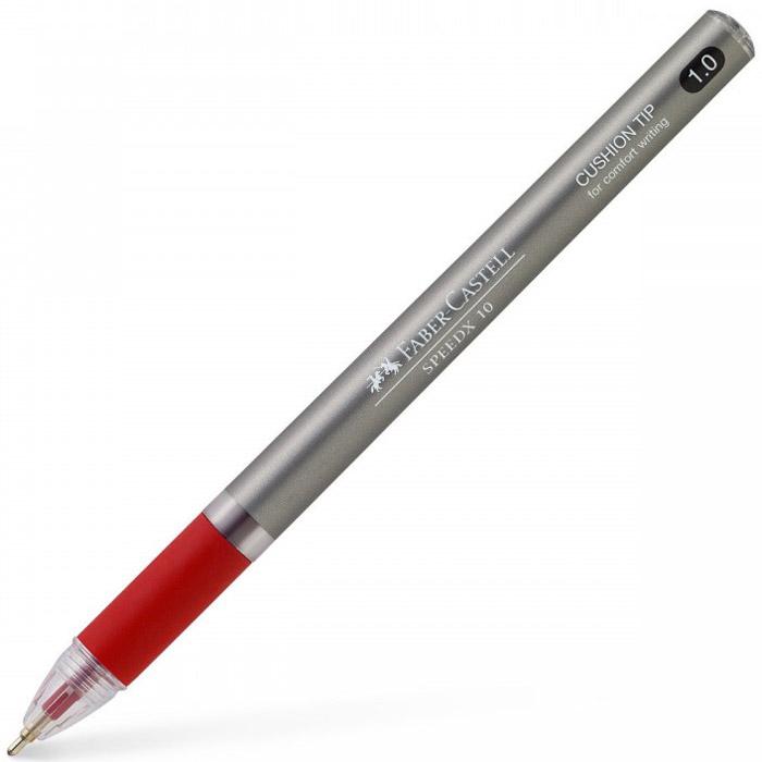 Faber-Castell Ручка шариковая Speedx Titanium цвет корпуса красныйB-46837-3Шариковая ручка Faber-Castell Speedx Titanium имеет эргономичную форму захвата и пружинящий наконечник. Специальные высококачественные чернила для экстрамягкого письма не выцветают. Ручка пригодна для письма на документах. Длина письма: ~2000 м.