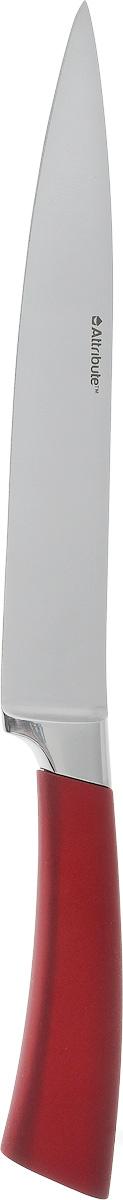 Нож универсальный Attribute Knife Tango, длина лезвия 20 см54 009312Универсальный нож Attribute Knife Tango изготовлен из первоклассной нержавеющей стали и предназначен для нарезки фруктов, сыра и приготовления бутербродов. Лезвиесделано из высококачественной хромо-молибденово-ванадиевой стали из Германии. Технология холодной закалки обеспечивает долгую заточку и повышенную устойчивость к коррозии. Такой нож станет прекрасным дополнением к коллекции ваших кухонных аксессуаров и не займет много места при хранении. Общая длина ножа: 33 см.