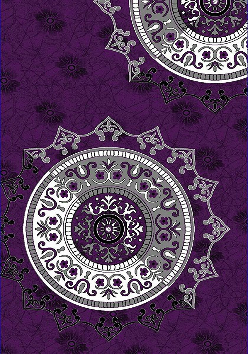 Ковер Emirhan Карвинг Империал Колор, цвет: черно-розовый, 80 х 150 см. 203420130212174101F0150739RAВорс: 100% полипропилен хит-сет, ручная выстрижка ворса