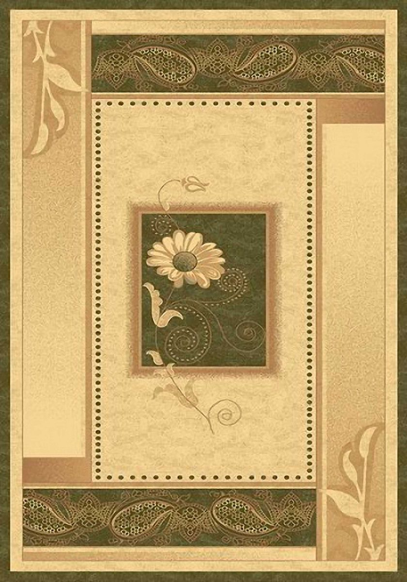 Ковер Emirhan Карвинг Империал, цвет: светло-бежевый, 60 х 110 см. 20342013021217646722393Ворс: 100% полипропилен хит-сет, ручная выстрижка ворса