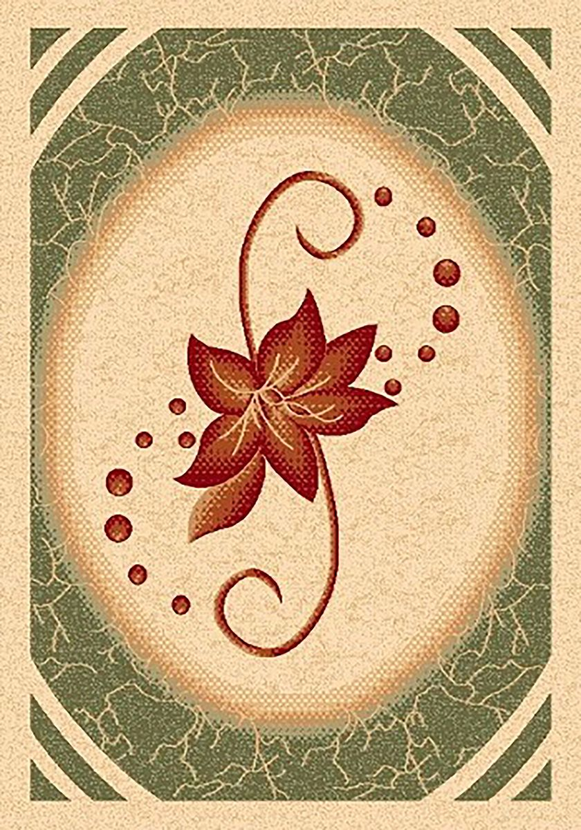 Ковер Mutas Carpet Карвинг, цвет: темно-зеленый, 80 х 150 см. 70634274-0060Ковер Mutas Carpet Карвинг изготовлен из прочного синтетического материала heat-set, улучшенного варианта полипропилена (эта нить получается в результате его дополнительной обработки). Полипропилен износостоек, нетоксичен, не впитывает влагу, не провоцирует аллергию. Структура волокна в полипропиленовых коврах гладкая, поэтому грязь не будет въедаться и скапливаться на ворсе. Практичный и износоустойчивый ворс не истирается и не накапливает статическое электричество. Ковер обладает хорошими показателями теплостойкости и шумоизоляции. Оригинальный рисунок позволит гармонично оформить интерьер комнаты, гостиной или прихожей. За счет невысокого ворса ковер легко чистить. При надлежащем уходе синтетический ковер прослужит долго, не утратив ни яркости узора, ни блеска ворса, ни упругости. Самый простой способ избавить изделие от грязи - пропылесосить его с обеих сторон (лицевой и изнаночной). Влажная уборка с применением шампуней и моющих средств не противопоказана. Хранить рекомендуется в свернутом рулоном виде.