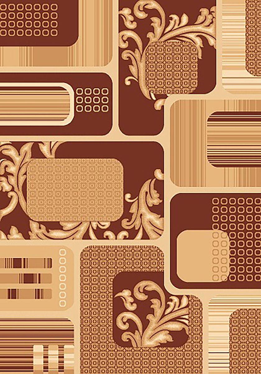 Ковер Mutas Carpet Карвинг, цвет: коричневый, 80 х 150 см. 707059F0150739RAВорс: 100% пКовер Mutas Carpet Карвинг изготовлен из прочного синтетического материала heat-set, улучшенного варианта полипропилена (эта нить получается в результате его дополнительной обработки). Полипропилен износостоек, нетоксичен, не впитывает влагу, не провоцирует аллергию. Структура волокна в полипропиленовых коврах гладкая, поэтому грязь не будет въедаться и скапливаться на ворсе. Практичный и износоустойчивый ворс не истирается и не накапливает статическое электричество. Ковер обладает хорошими показателями теплостойкости и шумоизоляции. Оригинальный рисунок позволит гармонично оформить интерьер комнаты, гостиной или прихожей. За счет невысокого ворса ковер легко чистить. При надлежащем уходе синтетический ковер прослужит долго, не утратив ни яркости узора, ни блеска ворса, ни упругости. Самый простой способ избавить изделие от грязи - пропылесосить его с обеих сторон (лицевой и изнаночной). Влажная уборка с применением шампуней и моющих средств не противопоказана. Хранить рекомендуется в свернутом рулоном виде.
