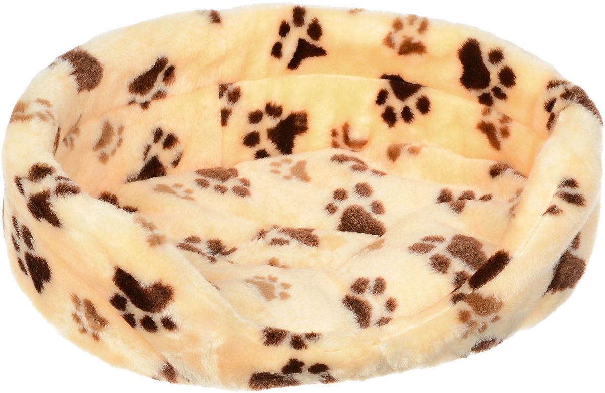 Лежак для животных Elite Valley, цвет: персиковый, коричневый, 50 х 38 х 16 см0120710Лежак Elite Valley обязательно понравится вашему питомцу. Изделие выполнено из искусственного меха, а наполнитель - из поролона. Такой материал не теряет своей формы долгое время. Внутри имеется мягкая съемная подстилка.Высокие борта обеспечат вашему любимцу уют, ему сразу же захочется забраться на лежак, там он сможет отдохнуть и подремать в свое удовольствие. Мягкий лежак станет излюбленным местом вашего питомца, подарит ему спокойный и комфортный сон, а также убережет вашу мебель от многочисленной шерсти.