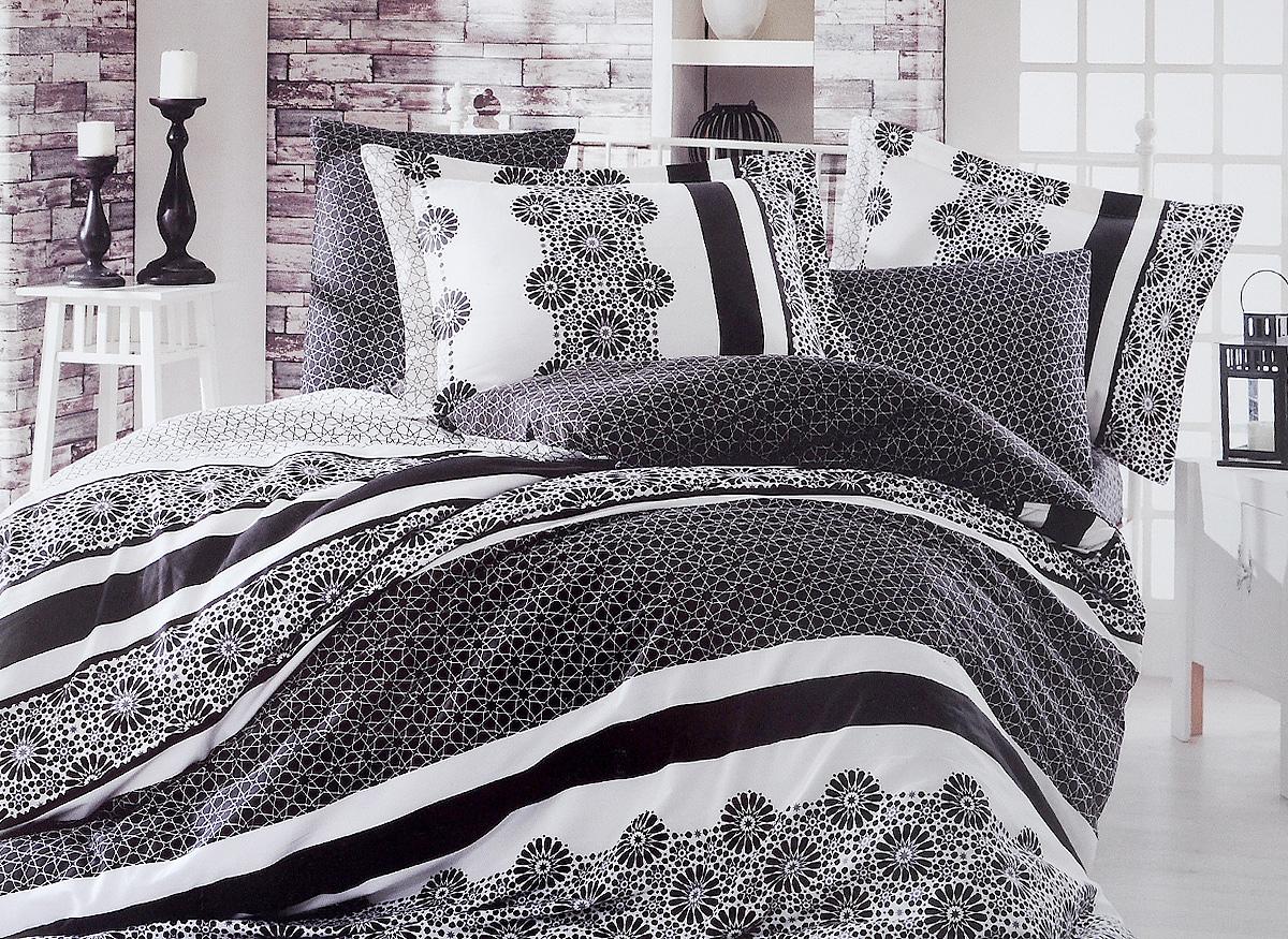 Комплект белья Hobby Home Collection Lisa, семейный, наволочки 50x70, 70x70391602Комплект белья Hobby Home Collection Lisa состоит из простыни, 2 пододеяльников и 4 наволочек. Белье выполнено из сатина - это ткань из 100% натурального хлопка, которая легко стирается, практичнее льна, подстраивается под температуру воздуха - зимой на таком белье тепло, летом - прохладно. Мягкость и нежность материала создает чувство комфорта и защищенности. Помимо своих внешних качеств, ткань отличается хорошей способностью пропускать воздух, и прекрасно впитывать влагу, благодаря чему, оно подойдет людям, которые не переносят синтетическую ткань, и прочие материалы, смешанные с синтетикой. Белье практически не мнется. Постельное белье с оригинальными дизайнами станет отличным выбором для людей, стремящихся всегда быть в центре внимания.