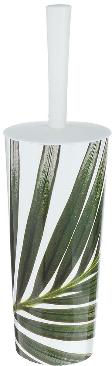 Ершик для унитаза Idea Стар деко. Пальма, с подставкой, высота 35 см22160401Ершик для унитаза Idea Стар деко. Пальма выполнен из пластика с жестким ворсом. Он хранится в специальной подставке, а также оснащен крышкой, которая плотно прилегает к подставке. Ерш отлично чистит поверхность, а грязь с него легко смывается водой.Стильный дизайн изделия притягивает взгляд и прекрасно подойдет к интерьеру туалетной комнаты.Длина ершика (с ручкой): 35 см. Размер рабочей части ершика: 7 х 7 х 8 см.Размер подставки: 11 х 11 х 24 см.