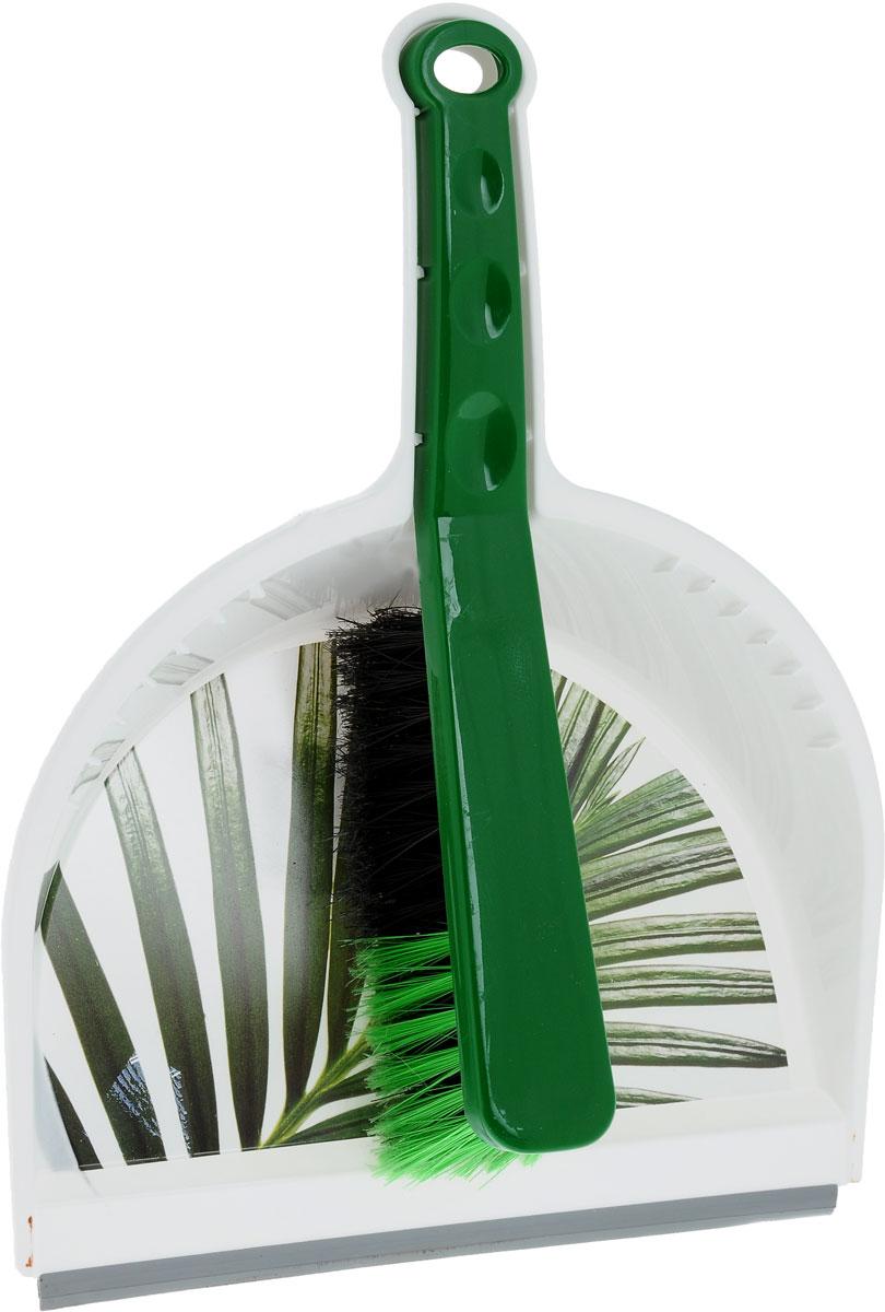 Щетка-сметка Idea Деко. Пальма, с совкомHM-3150_бежевый, розовый, зеленыйЩетка-сметка Idea Деко. Пальма станет незаменимым помощником в деле удаления пыли и мусора с различных поверхностей. Эластичный ворс на щетке, изготовленный из полимера, не оставит от грязи и следа. В комплекте вместительный совок углубленной формы, выполненный из прочного пластика. Удобная форма совка с бордюром, который удерживает собранный мусор, позволит эффективно и быстро совершить уборку в любом помещении. Ручка совка позволяет прикреплять его к рукоятке щетки. На рукояти изделий имеется специальное отверстие для подвешивания. Длина щетки-сметки: 28 см. Длина ворса: 6 см. Размер рабочей поверхности совка: 23 х 21 см.Размер совка (с учетом ручки): 33,5 х 23 х 10 см.