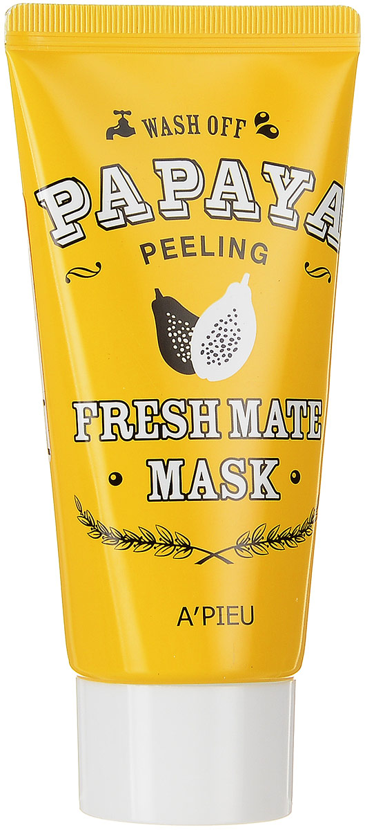 APieu Fresh Mate Маска-пиллинг с экстрактом папайи, 50 млFS-00897Маска-пилинг с папайей эффективно и мягко очистит кожу от омертвевших клеток эпидермиса, устранит тусклый цвет лица, подарит яркость и сияние уставшей коже. Маска эффективно отшелушивает ороговевшие клетки, питает кожу и способствует ее обновлению. Обладает мощными питательными и увлажняющими свойствами, повышает эластичность и упругость кожи.