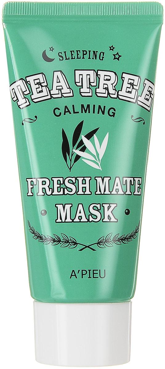 APieu Fresh Mate Ночная маска с экстрактом чайного дерева, 50 мл823217Ночная маска с экстрактом чайного дерева поможет очистить кожу, вернуть ей здоровый цвет и выровнять рельеф. Благодаря своим антисептическим, противогрибковым и противовоспалительным свойствам масло чайного дерева устраняет воспаления и препятствует их появлению. При регулярном применении маска поможет устранить угри и избавит от акне.