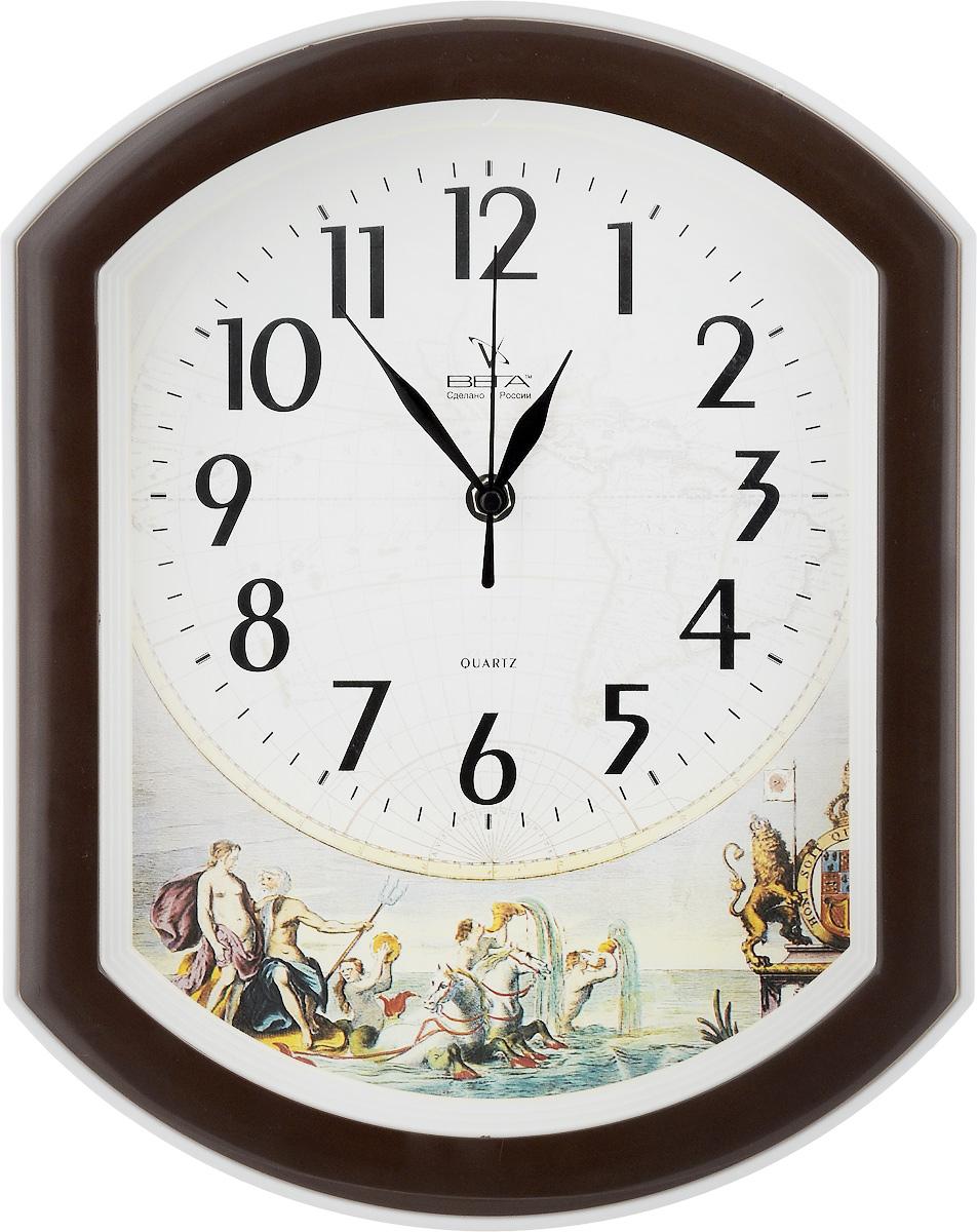 Часы настенные Вега Дружина, 34,5 х 27 х 4,5 см94672Настенные кварцевые часы Вега Дружина, изготовленные из пластика, прекрасно впишутся в интерьер вашего дома. Часы имеют три стрелки: часовую, минутную и секундную, циферблат защищен прозрачным стеклом. Часы работают от 1 батарейки типа АА напряжением 1,5 В (не входит в комплект).