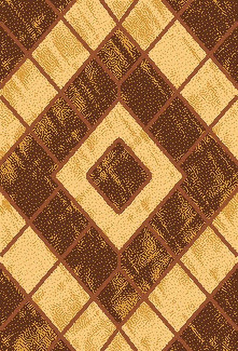 Ковер ART Carpets Триа, цвет: золотой, 80 х 150 см. 203420130212182528ES-412Ворс 100% полиэстер, букле