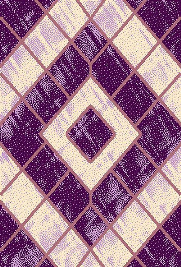 Ковер ART Carpets Триа, цвет: сиреневый, 120 х 180 см. 203420130212182566ES-412Ворс 100% полиэстер, букле