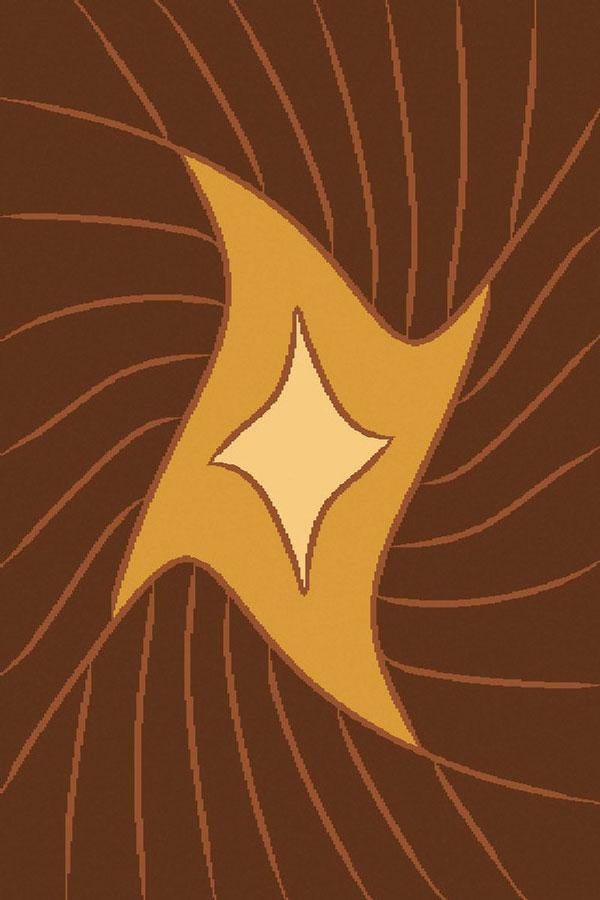 Ковер ART Carpets Триа, цвет: золотой, 120 х 180 см. 20342013021218256828907 4Ворс 100% полиэстер, букле