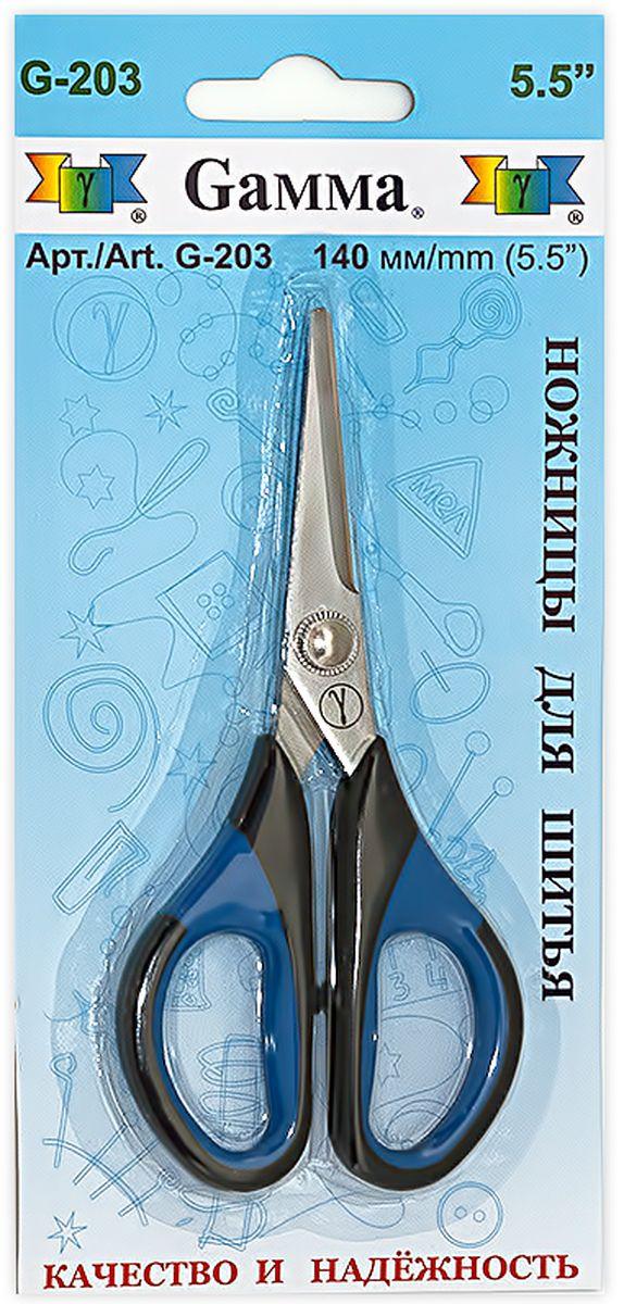 Ножницы для шитья и рукоделия Gamma, длина 14 смFS-54111Ножницы Gamma изготовлены из инструментальной стали с содержанием хрома, который придает инструменту дополнительную прочность. Используются для шитья, рукоделия и в быту для различных целей. Оснащены пластиковыми термостойкими ручками, которые не плавятся при соприкосновении с утюгом. Имеют небольшой размер, легкие, удобно ложатся в руке.Общая длина ножниц: 14 см.Длина лезвия: 5 см.