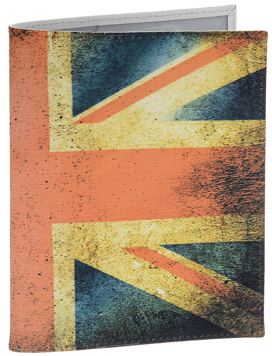 Обложка для паспорта Perfecto United Kingdom, цвет: синий, красный. PS-PR-0014581.091.01 BlackОбложка для паспорта Perfecto United Kingdom, выполненная из натуральной кожи, оформлена рисунком с изображением флага Британского королевства. Внутри содержится два кармашка из прозрачного ПВХ для паспорта. Характеристики: Материал: натуральная кожа. Размер: 9,5 см х 13,5 см. Артикул:PS-PR-0014.Производитель: Россия.