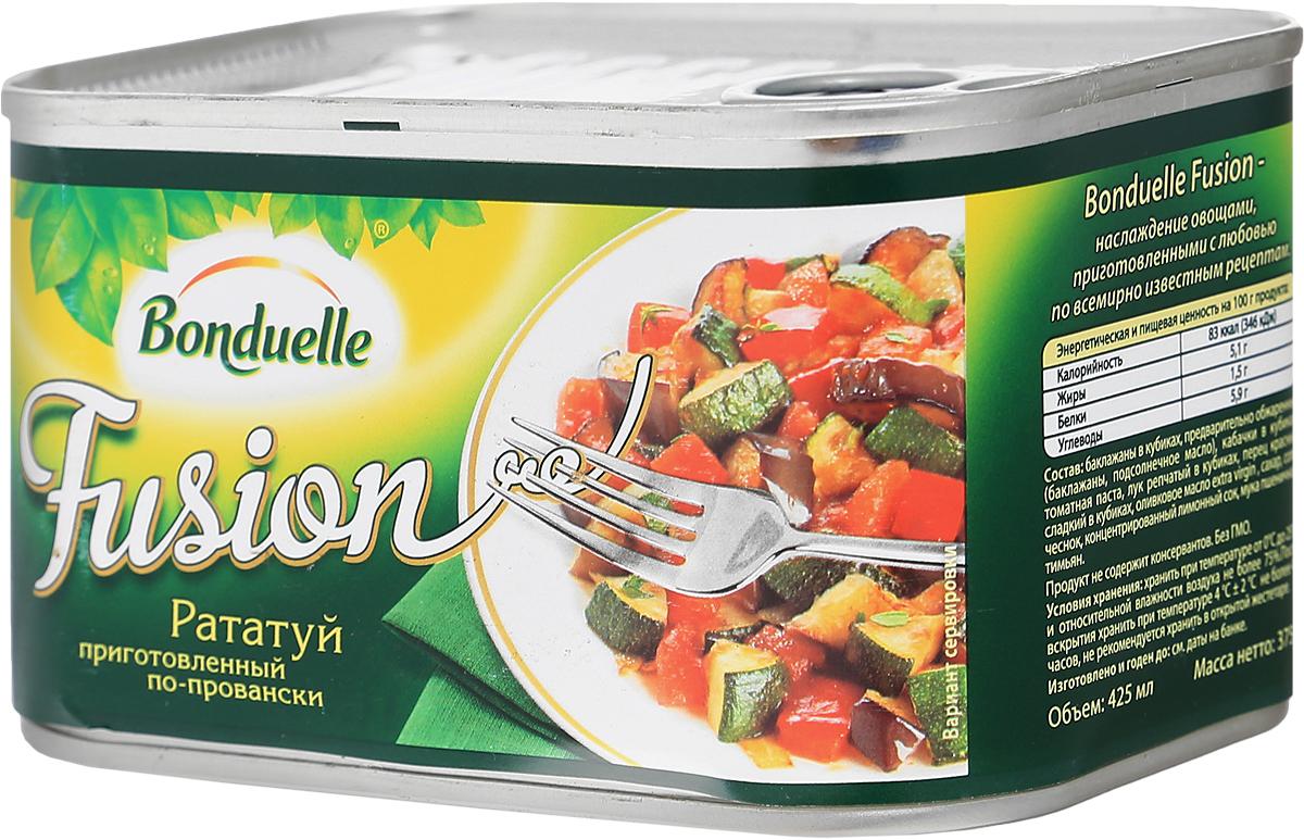 Bonduelle рататуй по-провански, 375 г4753Рататуй, который приготовлен по всем канонам: самые красивые овощи, качественное оливковое масло и идеально выверенное время приготовления для каждого овоща. Баклажаны, кабачки, перец, томаты и лук - все ингредиенты сохранили максимум вкуса, и ни один из них не пережарен. Подавайте рататуй с мясом, пастой или кускусом - и кулинарное блаженство не заставит себя ждать.Уважаемые клиенты! Обращаем ваше внимание, что полный перечень состава продукта представлен на дополнительном изображении.