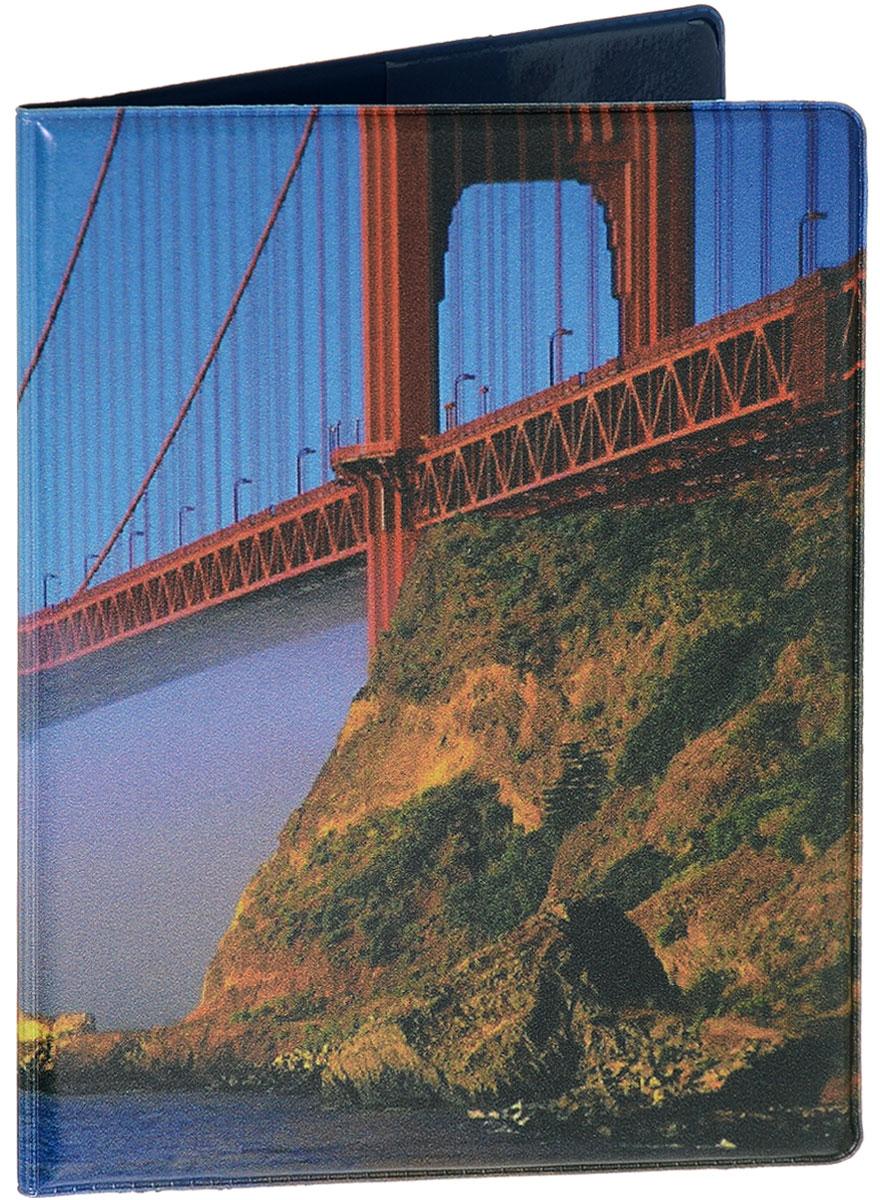 Обложка для паспорта Эврика Мост, цвет: сиреневый, красный. 94379ОП-ЦИ-РЧОбложка для паспорта от Evruka- оригинальный и стильный аксессуар, который придется по душе истинным модникам и поклонникам интересного и необычного дизайна.Качественная обложка выполнена из легкого и прочного ПВХ, который надежно защищает важные документы от пыли и влаги. Рисунок нанесён специальным образом и защищён от стирания. Изделие раскладывается пополам. Внутри размещены два накладных кармашка из прозрачного ПВХ. Простая, но в то же время стильная обложка для паспорта определенно выделит своего обладателя из толпы и непременно поднимет настроение. А яркий современный дизайн, который является основной фишкой данной модели, будет радовать глаз.