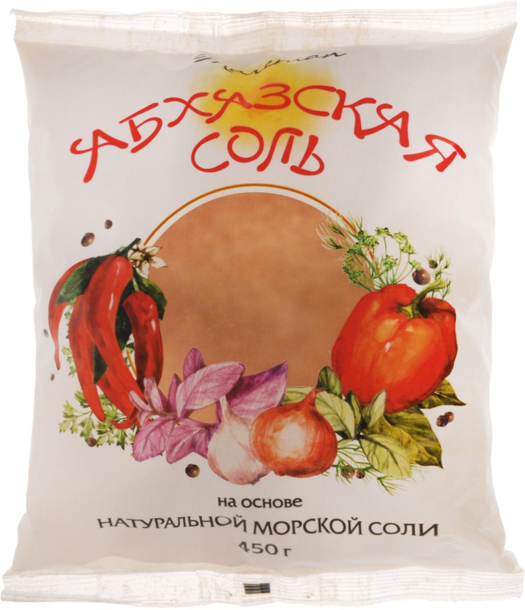 Mareman соль Абхазская, 450 г0120710Аджика в переводе с абхазского означает соль, сами же абхазы называют эту приправу апырпыл-джика (перечная соль) или аджиктцатца), то есть соль, перетертая с чем-то.Ее появление связывают с абхазскими чабанами, когда весной угонялись отары в горы, хозяева выдавали чабанам соль для добавки в питание только лишь овцам. После приема пищи с солью овцы, томимые жаждой, ели травы намного больше и быстрее набирали в весе.В те давние времена соль была дорогим товаром, и хозяева отар специально подмешивали в нее красный жгучий перец, чтобы чабаны не присыпали ей свою еду.После чего соль теряла свой первоначальный вид, однако это не помешало чабанам использовать ее в качестве ароматной приправы, добавив чеснок, кинзу, хмели-сунели и прочие пряности.Традиционная аджика, приготовленная по старинным рецептам, с добавлением натуральной морской соли подарила нашему столу абхазскую соль.Уважаемые клиенты! Обращаем ваше внимание, что полный перечень состава продукта представлен на дополнительном изображении.