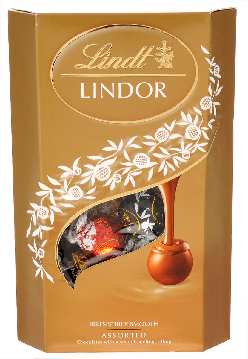 Lindt Lindor шоколадные конфеты ассорти, 337 г0120710Lindor Ассорти - это коллекция из четырех великолепных вкусов нежнейших шоколадных конфет Lindor, которая точно не оставит вас равнодушными.Состав набора:Конфеты из нежнейшего молочного шоколада с тающей кремовой начинкойКонфеты из нежнейшего белого шоколада с тающей кремовой начинкойКонфеты из нежнейшего горького шоколада 60% какао с тающей начинкойКонфеты из нежнейшего молочного шоколада с кусочками фундука и тающей кремовой начинкойУважаемые клиенты! Обращаем ваше внимание, что полный перечень состава продукта представлен на дополнительном изображении.