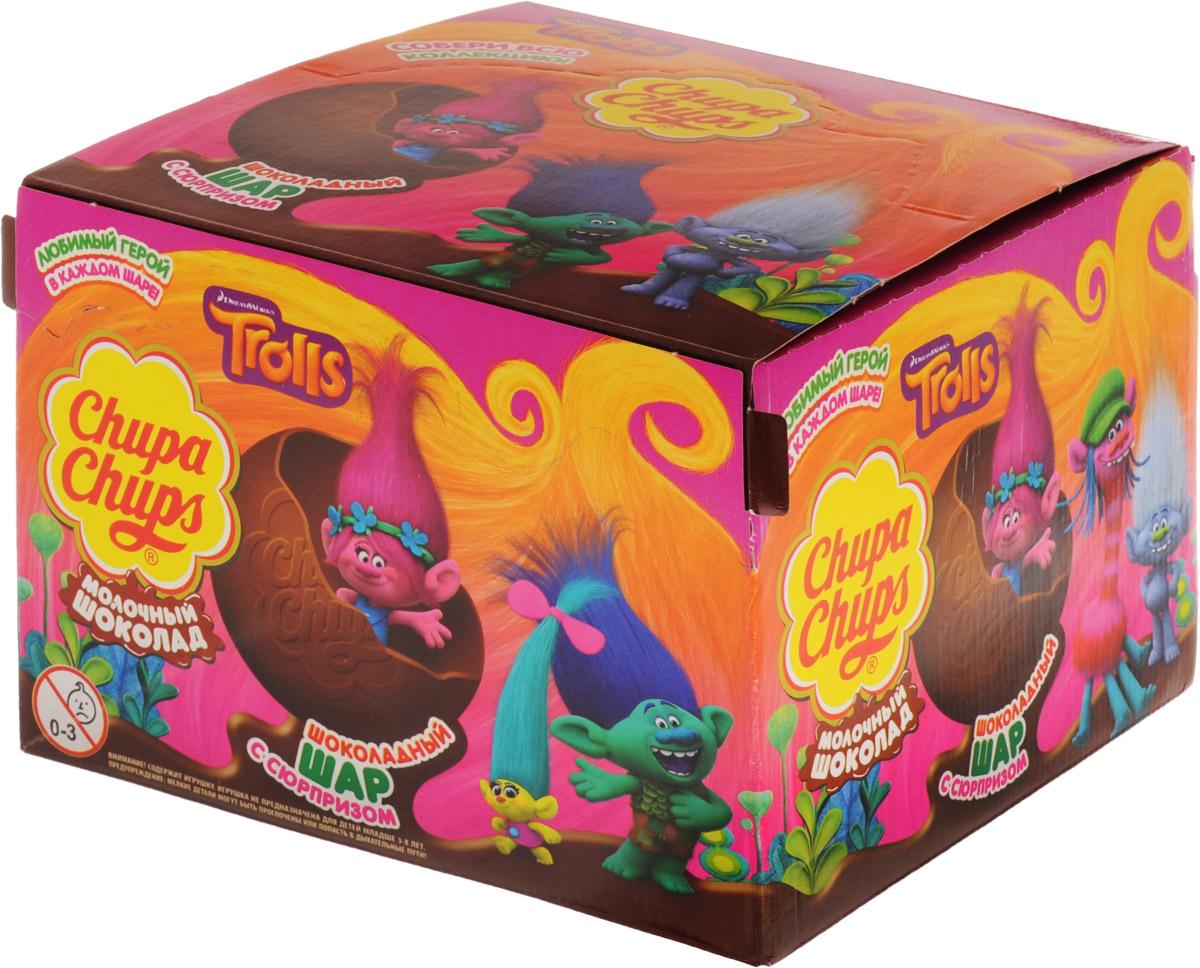Chupa Chups Тролли молочный шоколад, 18 штук по 20 г8253174Внутри каждого шоколадного шара Chupa Chups вы найдете новую игрушку, а снаружи - именно такой шоколад, как вы любите.Какая игрушка попадется вам в этот раз??? Соберите всю коллекцию и обменивайтесь с друзьями!Игрушка не предназначена для детей младше трех лет.Уважаемые клиенты! Обращаем ваше внимание, что полный перечень состава продукта представлен на дополнительном изображении.