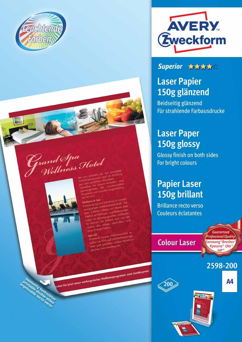 avery zweckform l6013 Avery Zweckform Бумага для лазерных принтеров Super глянцевая двухсторонняя А4 150 г/м2 200 листов