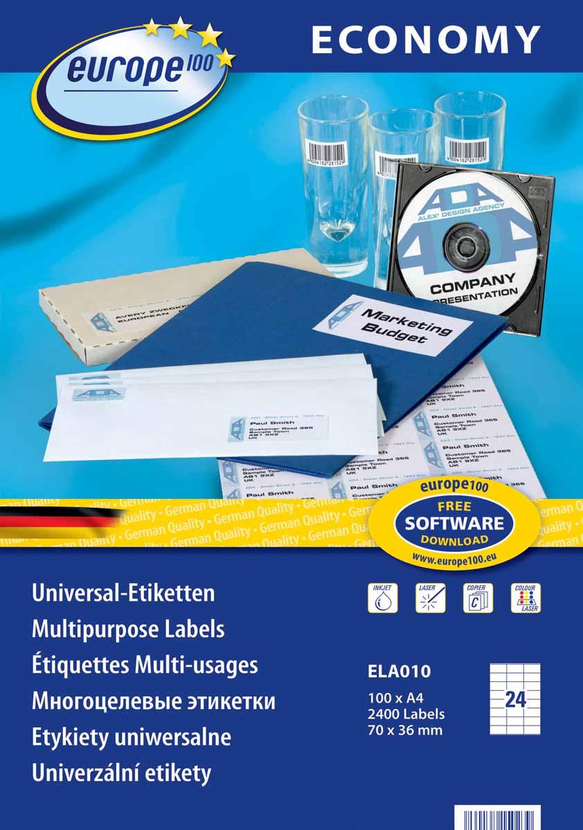 Avery Zweckform Этикетки самоклеящиеся Европа-100 70 х 36 мм 100 листов