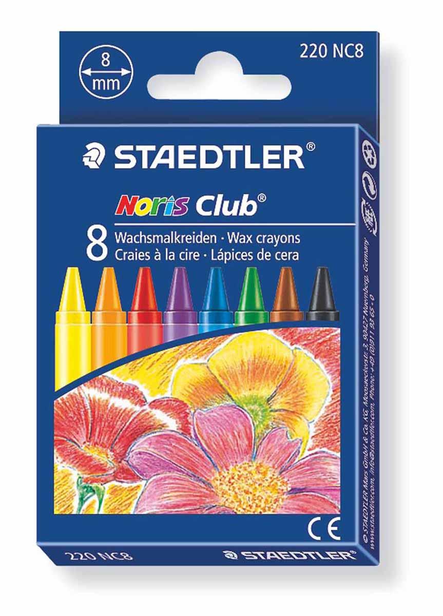 Staedtler Набор восковых мелков Noris Club 8 цветовFS-00897Набор восковых мелков Staedtler Noris Club содержит 8 ярких насыщенных цветов и оттенков. Мелки предназначены для рисования по бумаге, картону, стеклу, керамике, пластику. Не токсичны и абсолютно безопасны.Каждый мелок обернут в бумажную гильзу. Диаметр каждого мелка - 8 мм.