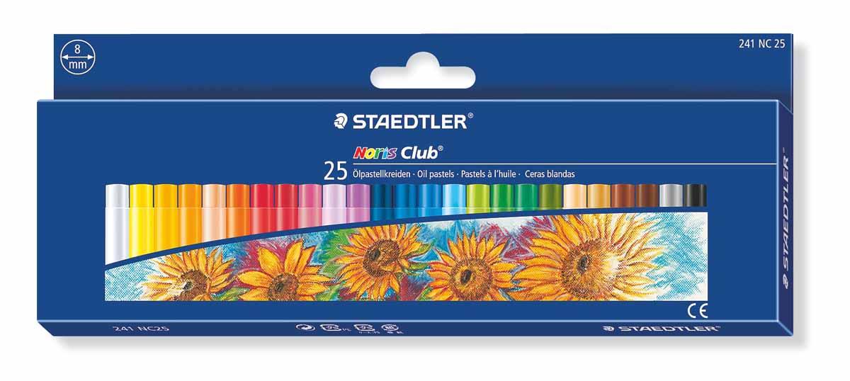 Staedtler Пастель масляная Noris Club 25 цветовFS-36052Набор пастели масляной Staedtler Noris Club обладает мягкой текстурой, максимально насыщена пигментами, в результате чего имеет яркие цвета. Пастель имеет высокую устойчивость к поломке. Подходит для рисования, перекрытия цвета и техники процарапывания.В наборе: 25 цветов.