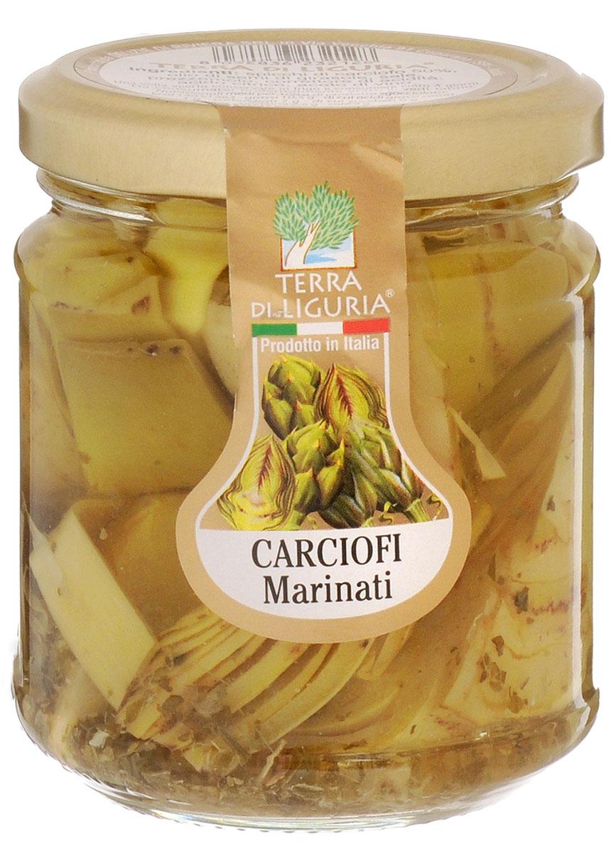Terra Di Liguria артишоки маринованные в масле, 180 гANCARTDLВ Италии артишоки часто употребляют как отдельное блюдо. Могут использовать их и в салатах, в гарнирах к рыбе или мясу, в соусах для пасты. Артишоки - идеальный вариант для тех, кто сидит на диете. Низкокалорийные, они обладают богатейшим запасом белков, витаминов, кислот.Уважаемые клиенты! Обращаем ваше внимание, что полный перечень состава продукта представлен на дополнительном изображении.