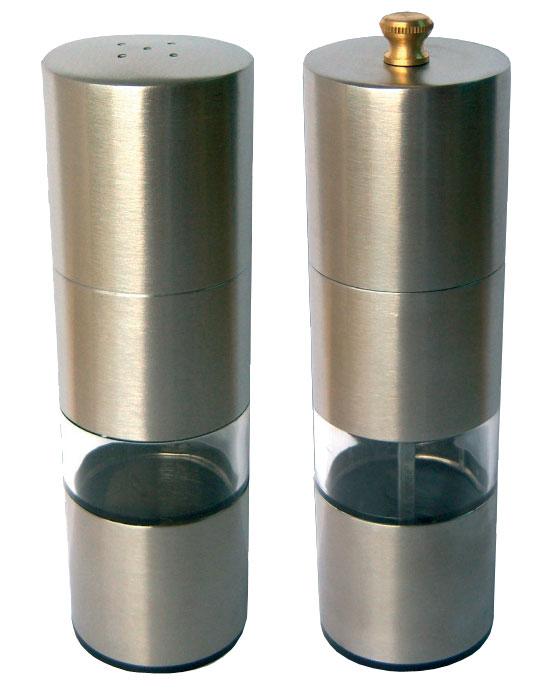 Набор для специй Bohmann, 2 предмета. 7810BHLU-1853Набор для специй Bohmann - товар, соответствующий российским стандартам качества. Любой хозяйке будет приятно держать его в руках.В набор входят измельчитель для перца и солонка.Изготовлен из нержавеющей стали .Высота измельчителя для перца - 14 см.Высота солонки - 13 см.