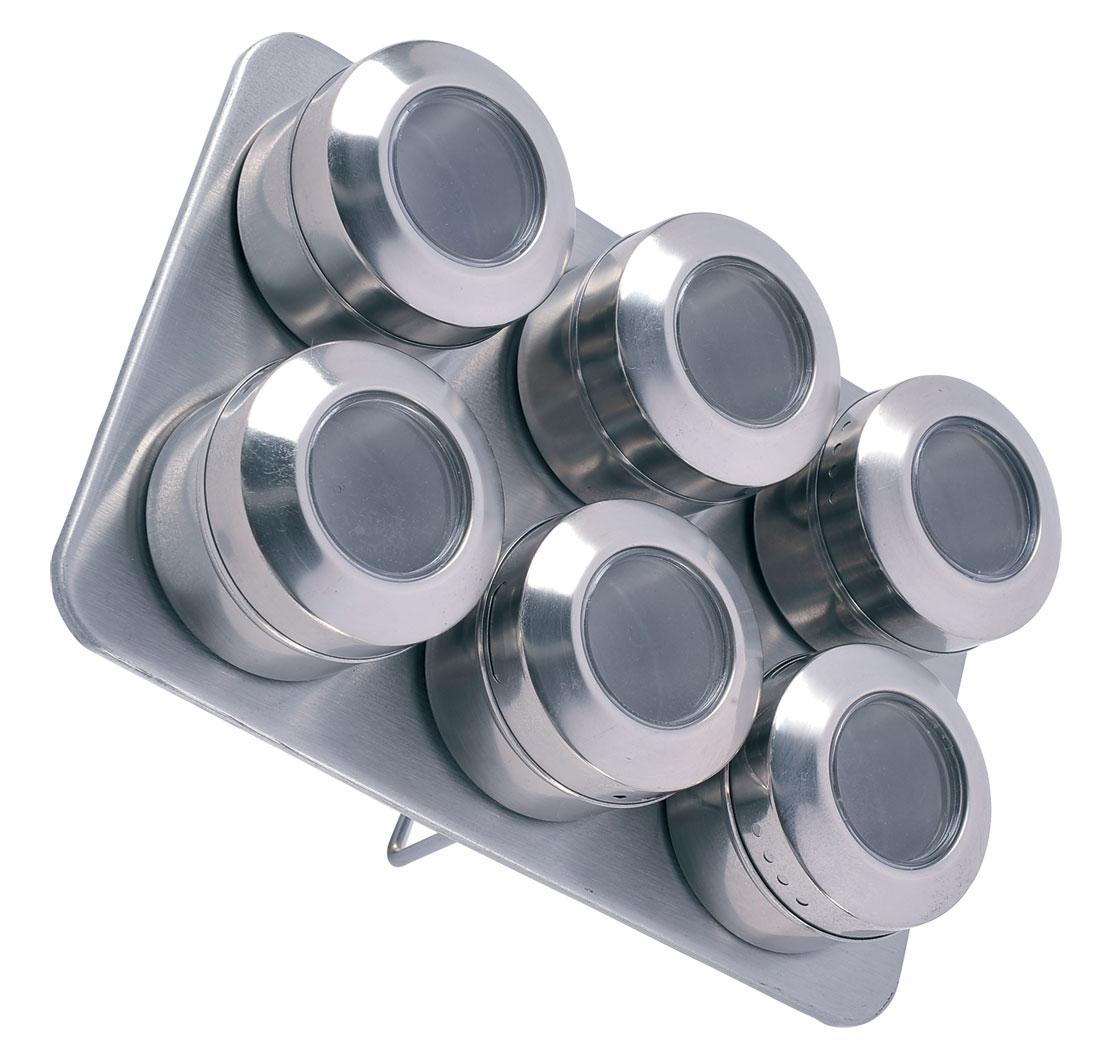 Набор для специй Bohmann, на магните, 7 предметов. 7817BH/NEWFA-5125 WhiteНабор для специй Bohmann на магните - товар, соответствующий российским стандартам качества. Любой хозяйке будет приятно держать его в руках.В набор входят 6 емкостей для соли и перца и 1 металлический стенд - подставка. Изготовлен из нержавеющей стали.