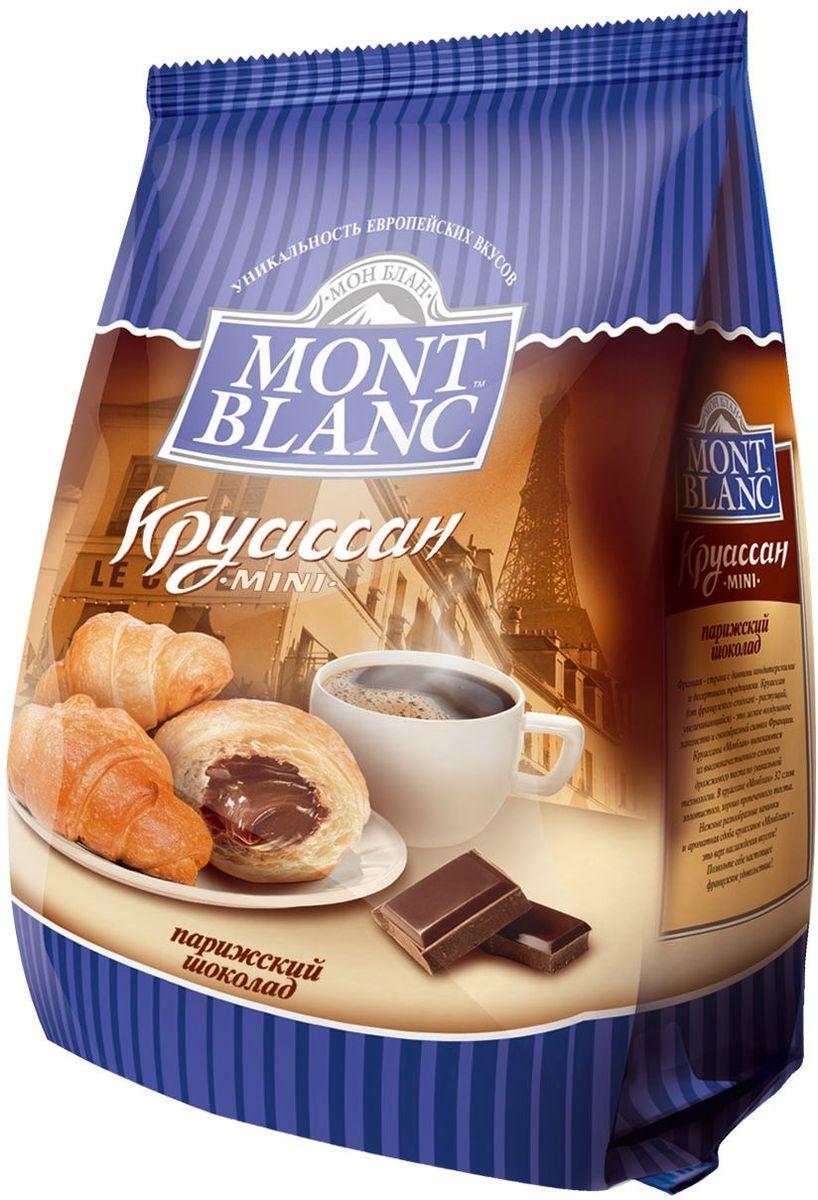 Mont Blanc круассаны мини Парижский шоколад, 200 г0120710Французские мини-круассаны с начинкой в виде крема или джема. Виды: Клубника, Ваниль, Орех, Вишня, Сливки, Абрикос, Шоколад, Карамель, Микс.