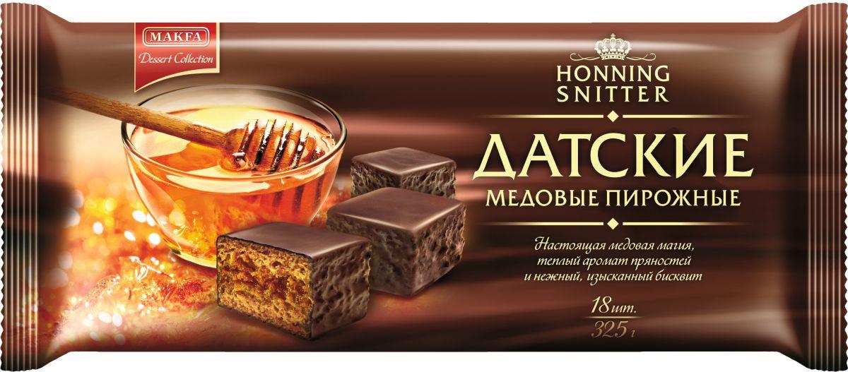 Makfa Dessert Collection пирожное Медовый бисквит, 325 г0120710Основной объём пирожного занимает медовый бисквит. Мёд для его приготовления используется натуральный. Кроме мёда на вкус бисквита влияют специи: корица и гвоздика.